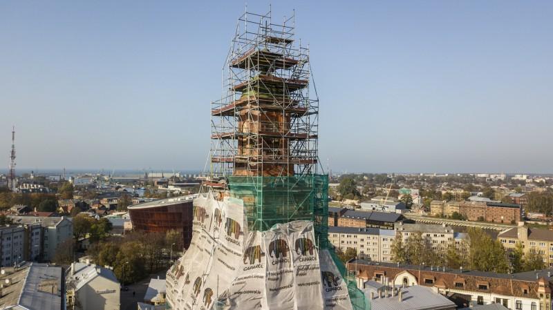 Torņa atjaunošana, foto: Aigars Prūsis